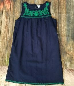 NWT J Crew Sleeveless Blue Dress Size S